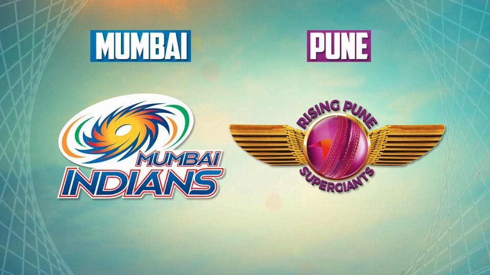 Mumbai Indians vs Rising Pune Supergiants