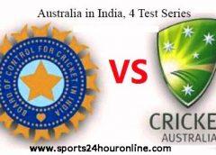4 Test Series Australia tour of India
