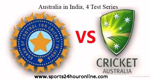 4 Test Series Australia tour of India