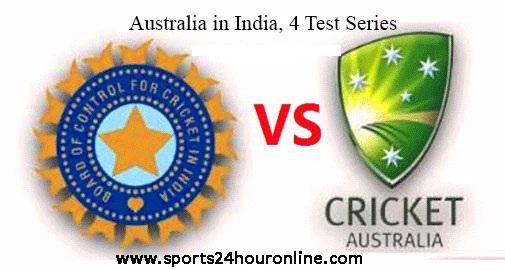 4 Test Series Australia tour of India, 2017