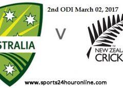 NZW vs AUSW 2nd ODI Live Score