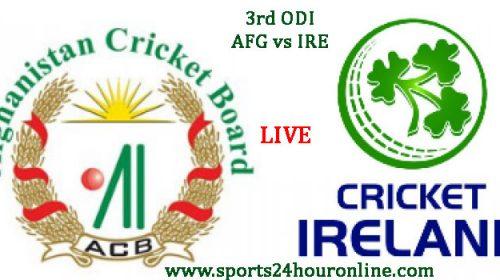 AFG vs IRE 3rd ODI