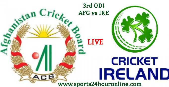 AFG vs IRE 3rd ODI Today Live Cricket Score Mar 19, 2017