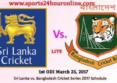 SL vs BAN 1st ODI Live Cricket Score Online Streaming March 25, 2017