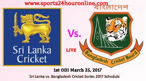 SL vs BAN 1st ODI March 25, 2017
