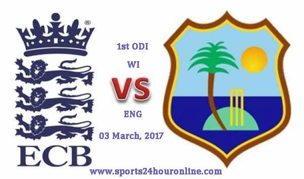 West Indies vs England 1st ODI Live Cricket Score 03 Mar, 2017