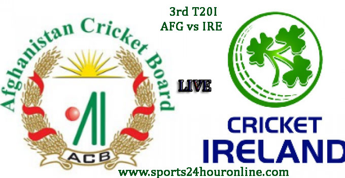 AFG vs IRE 3rd T20I Live Cricket Score