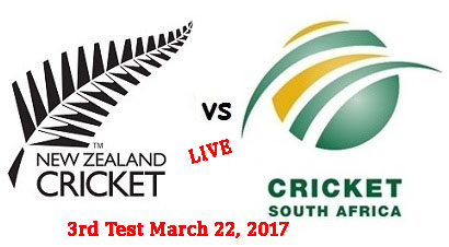 NZ vs RSA 3rd Test Live