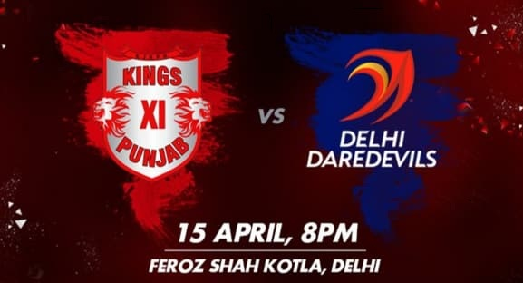 DD vs KXIP IPL Live Match Score Streaming Today April 15, 2017