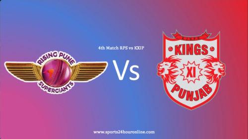 KXIP vs RPS 4th Match