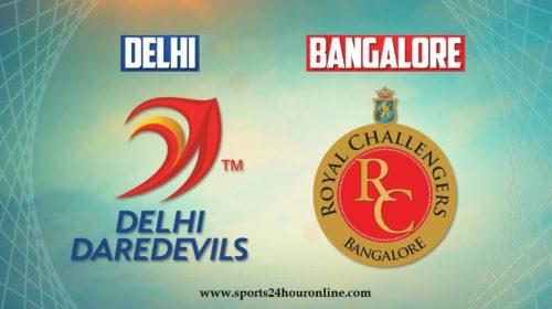 DD vs RCB Today IPL Live Streaming