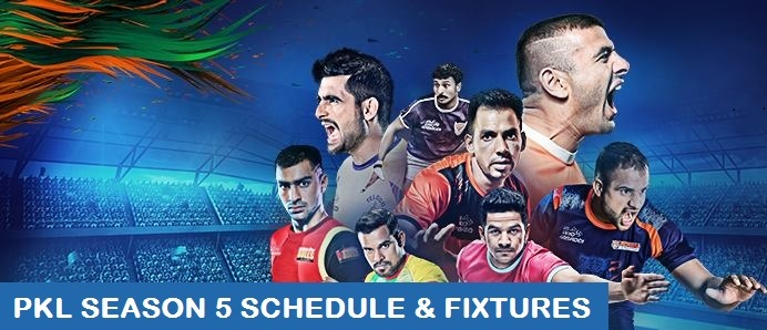 Pro Kabaddi League 2017 Schedule – PKL 2017 Season 5