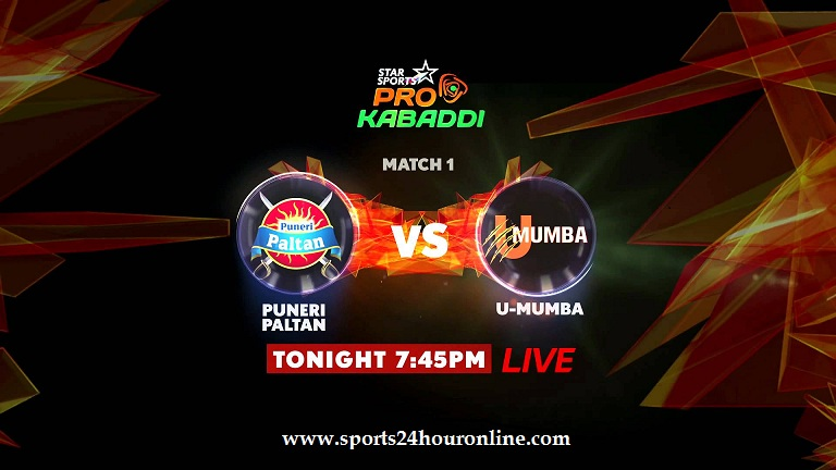 U Mumba vs Puneri Paltan Live Streaming PKL Season 5 Opener Match 28 July 2017