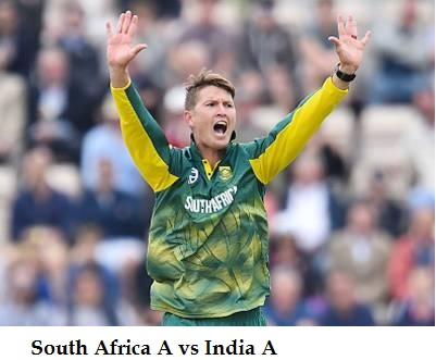 RSAA vs INDA 5th Match Live Stream Info Today- South Africa A vs India A