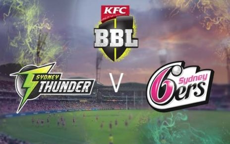 Sydney Thunder vs Sydney Sixers Live Stream 1st Match Big Bash League Today Match