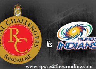 RCB vs MI Live Streaming IPL Today 31st Match