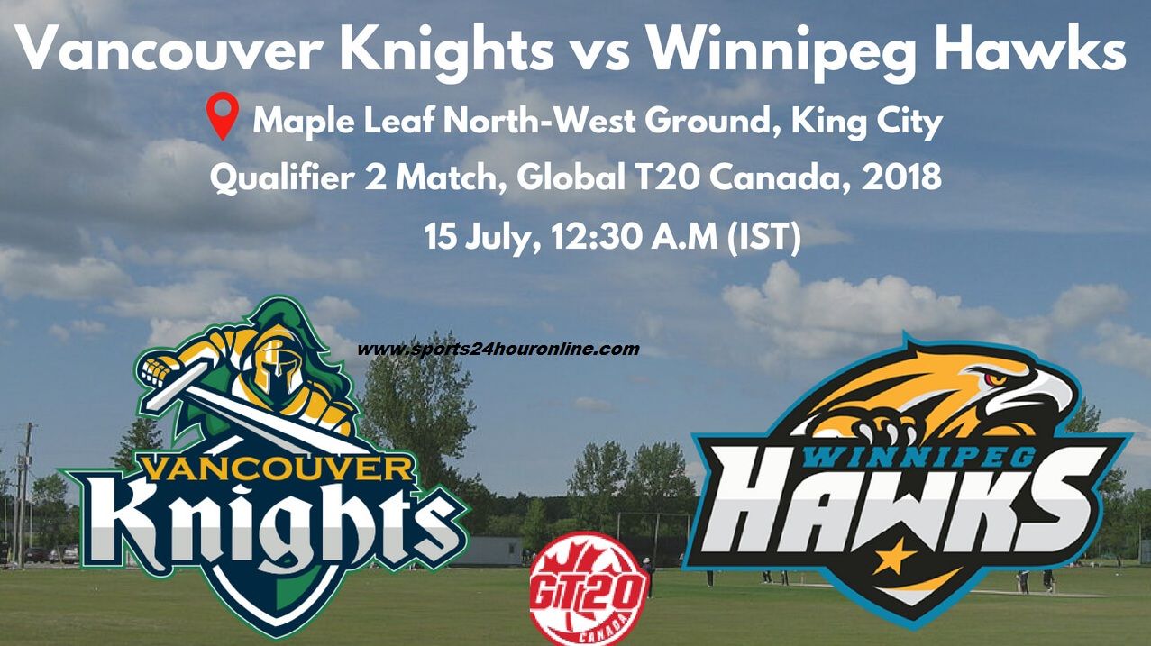 VCK vs WPH Live Streaming Qualifier 2 - Global T20 Canada 2018