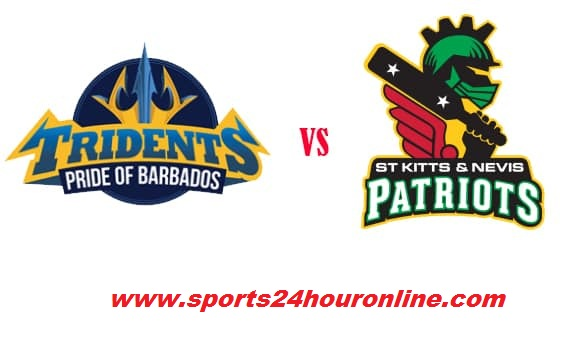 BT vs SNP Live Streaming 16th Match of CPL 2018.Barbados Tridents vs St Kitts and Nevis Patriots