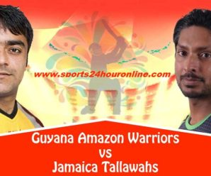 JT vs GAW Live Streaming 11th Match of Caribbean Premier League 2018