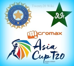 India vs palistan 2016 asia cup