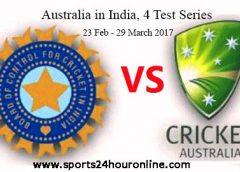 India vs Australia First Test Live Score