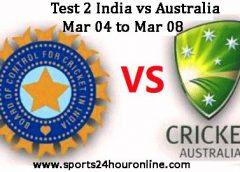 Live Streaming of India vs Australia