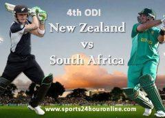 NZ vs SA 4th ODI Live Streaming