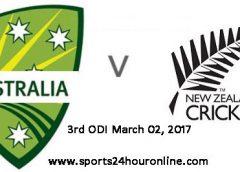 NZW vs AUSW 3rd ODI