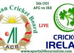 Afghanistan vs Ireland 5th Match