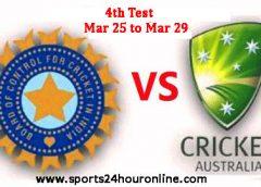 India vs Australia Fourth Test