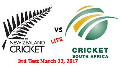 NZ vs RSA 3rd Test Live