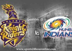 MI vs KKR Today Live Qualifier 2 IPL Match