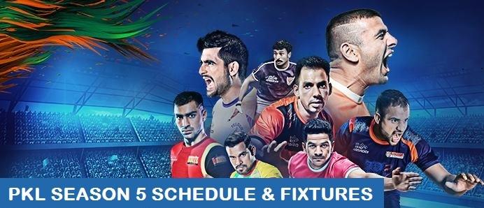 Pro Kabaddi League 2017 Schedule