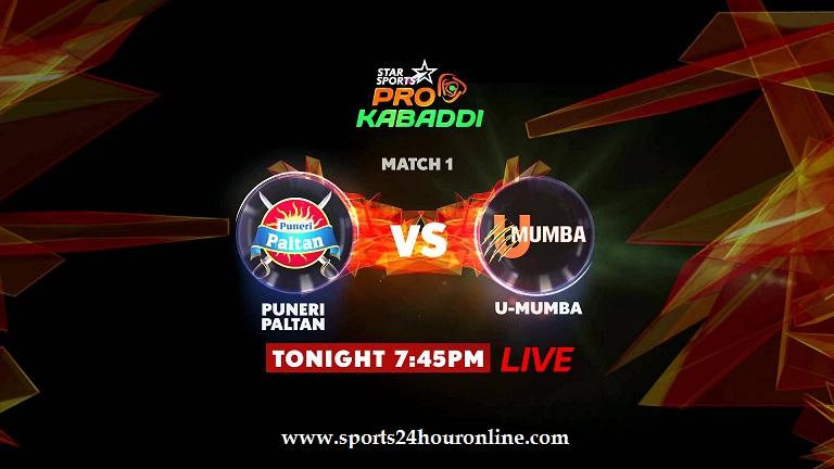 U Mumba vs Puneri Paltan Live Streaming