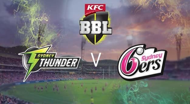 Sydney Thunder vs Sydney Sixers Live Stream 1st Match Big Bash League Today Match