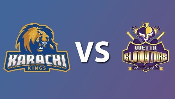 KRK vs QTG Live Streaming 2nd Match Pakistan Super League - Karachi Kings vs Quetta Gladiators