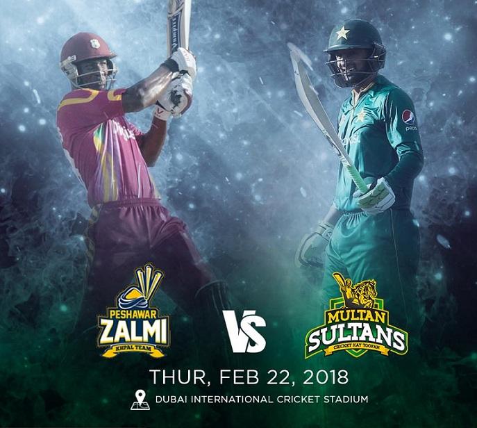 PSZ vs MS Live Streaming First Match of PSL 2018 - Peshawar Zalmi vs Multan Sultans