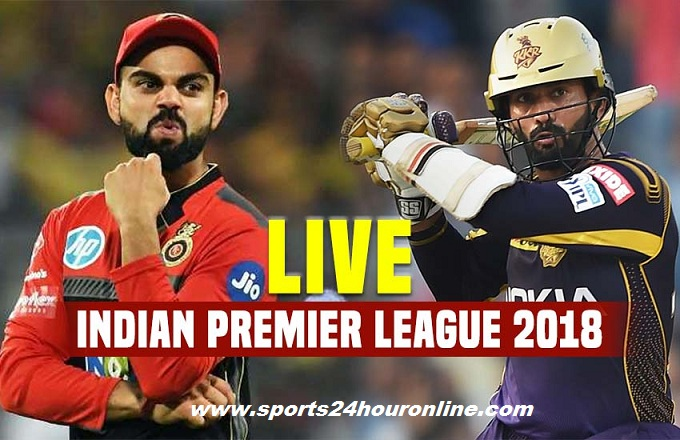 RCB vs KKR Live Stream 29th Match of Vivo IPL 2018