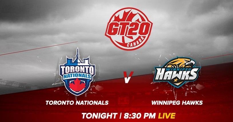 TTN vs WPH Live Telecast Global T20 Canada 2018 Match - Toronto Nationals vs Winnipeg Hawks