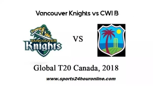 VCK vs CWIB Live Streaming PlayOff 1 - Global T20 Canada 2018
