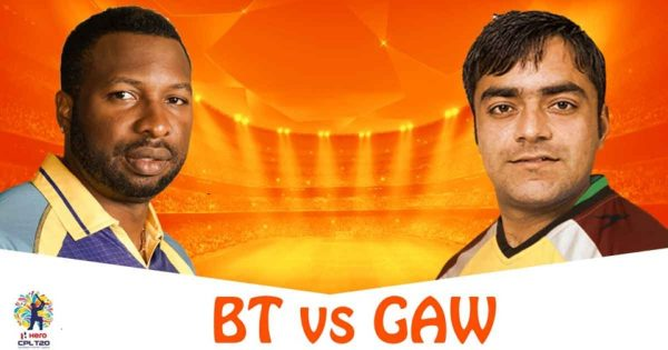 BT vs GAW Live Stream 22nd Match of CPL 2018 - Barbados Tridents vs Guyana Amazon Warriors