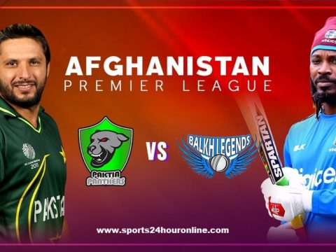 Balkh Legends vs Paktia Panthers Live Streaming APL 2018