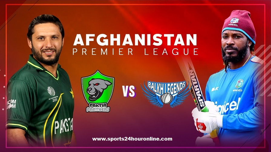 Balkh Legends vs Paktia Panthers Live Streaming APL 2018