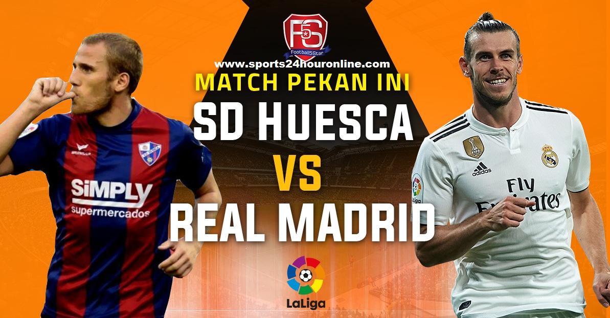 Huesca vs Real Madrid live stream la liga football match today