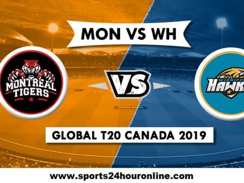 Montreal Tigers vs Winnipeg Hawks - MNT vs WPH Live Stream Global T20