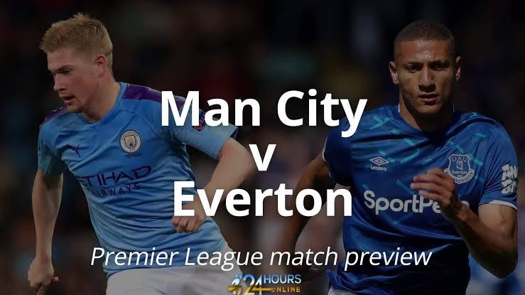 Manchester City vs Everton Live stream football match preview
